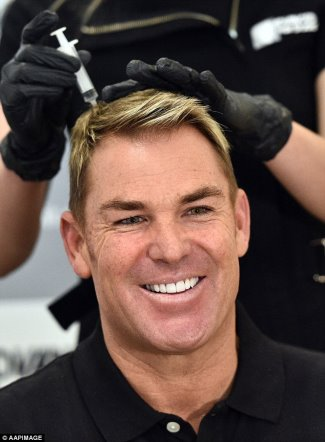shane warne hair loss stem cell treatment